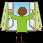 空き家、部屋の中の空気の換気